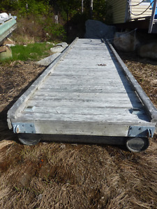Floating dock 25 1/2ft x 5ft surplus to requirement