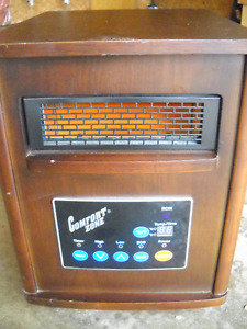Infrared Quartz 750/1500W Space Heater will heat up to 1000sq/ft