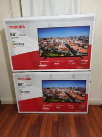 TV 58INCH BRAND NEW TOSHIBA SMART 4K ULTRA HD HDR WITH BLUETOOTH ALEX