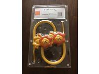 New Nursery bedroom animal lion curtain tie backs / hold backs orange and yellow unopened