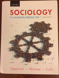 "SOCIOLOGY ""A Canadian Perspective"" Third Edition Kitchener / Waterloo Kitchener Area image 1"