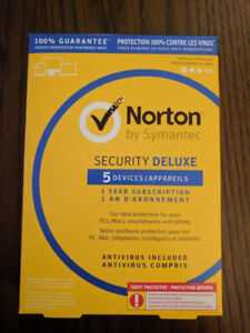 Norton Security Deluxe 3 and 5 Devices Incl Antivirus1 Yr Sub