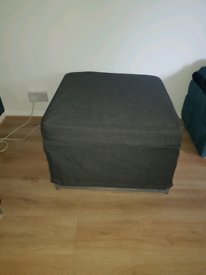 Single fold away bed with cover
