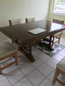 Antique Canadian made Dining room table