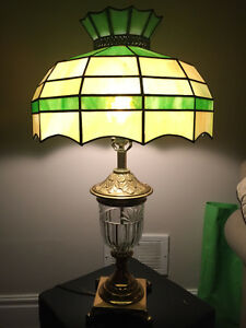 Stained glass Tiffany style table lamp London Ontario image 1