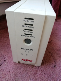 APC Back-UPS CS 500 VA Offline Tower BK500EI UPS. Condition is Used