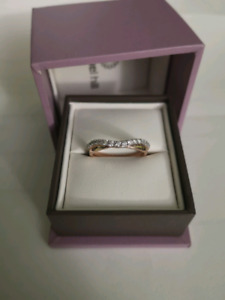 2 Rose Gold Diamond Wedding Bands- Protection Plan Included