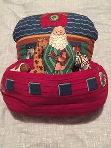 Handmade Stuffed Noah's Ark and animals