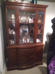 Dunken phyfe table and china cabinet