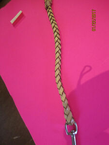 Braided LEATHER Lead & NEW-Like NEW Leather & Nylon Leads!!