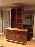 Dresser and book case