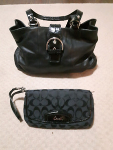 Coach hand bag and matching wallet