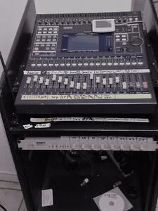 Yamaha 03D 24-Input Digital Mixing Console O3D Mixer rack & case