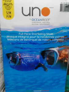 Brand New-Uno Full-Face Snorkeling Mask Small-Large