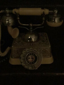 Antique rotary landline phone