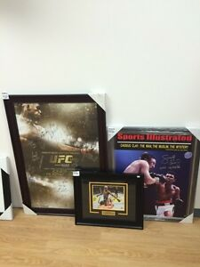 UFC and Boxing framed and signed 8 by 10 pictures