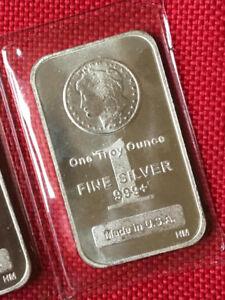 1 oz HM Morgan Fine Silver Bar - New In Seals