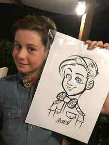 the wedding caricature