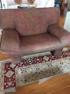 Un divan et deux fauteuils- design italien