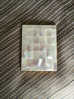 BOITE NACREE VINTAGE MOTHER OF PEARL CASE