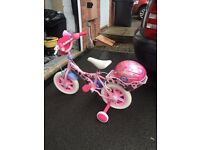 Angelina Ballerina kids Bike and matching Helmet