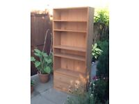 Bookcase Shelving Storage unit with two drawers