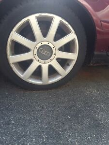 "Audi A4 (2001) 17"" winter tires + rims for sale.  (Negotiable)"
