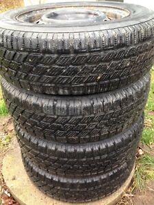 P175/70R13 Winter tires on rims for Toyota Echo