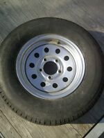 """13""""Radial Tire and  Rim (New Never Used) From Triton Trailer"""