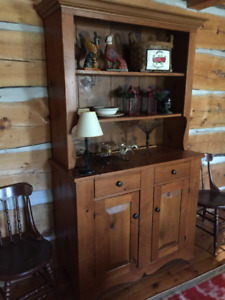 Pine Dinning Room Hutch Part Of Contents Sale