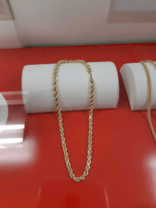 10k gold rope chain 8mm