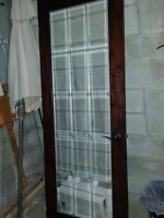 Dark Wood French Door 30 × 80  almost new