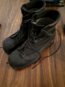 Mens steel toe leather boots 12