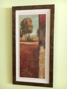 """Two pictures each 25"""" x 13"""" long with wooden frames for Sale!"""