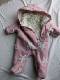 Baby girls next snow suit all in one coat first size newborn