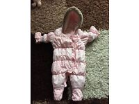 Like new next girls sleepsuit upto 3 months