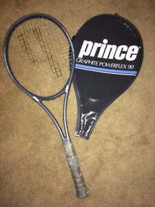Prince Graphite Powerflex 90 Tennis Raquet with cover