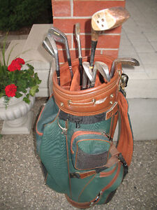 Golf clubs - men's right hand with bag