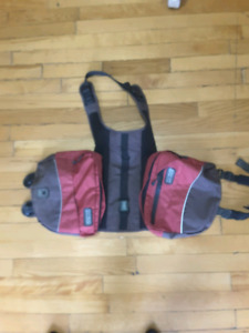 Free large dog backpack and back seat cover