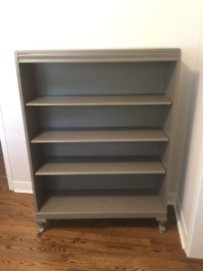 Solid wood bookcase, painted