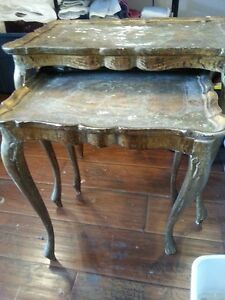 Antique nesting tables