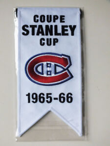 CENTENNIAL STANLEY CUP 1965-66 BANNER MONTREAL CANADIENS HABS