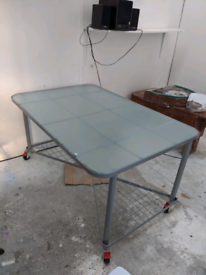 Glass top desk work table