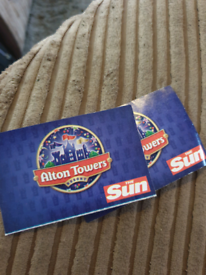 2 x alton towers tickets valid 7th October 2021