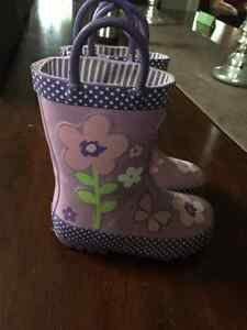 Girls Rain Boots Toddler Size 6