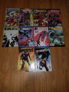 10 issues of Thunderbolts comic books, Variant cover included.