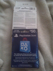 $50CAD PSN Gift Card with receipt