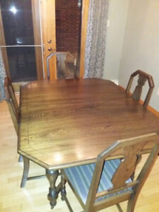 Antique Dining Room Set with China Cabinet and Hutch