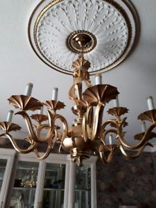 Bronze/Gold Chandelier