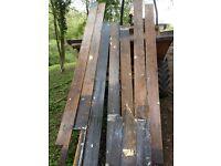 Reclaimed victorian pine floorboards shepherds hut